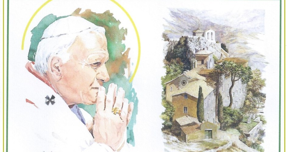 <a href='dettagli.aspx?c=1&sc=8&id=68&tbl=eventi'><div class='slide_title'><h3>100 anni della nascita di Papa Wojtyla</h3></div><div class='slide_text'><span>Anche questa Comunità vuole celebrare la ricorrenza dei cento anni della nascita di Papa Giovanni Paolo II avvenuta il 18 maggio 1920, ricordando la visita che fece al Santuario della Mentorella sul M ...</span></div></a>